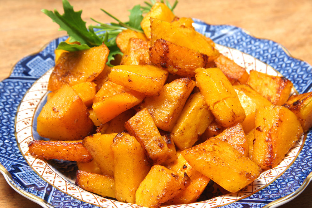 Roasted Butternet Squash with Sweet Cinnamon