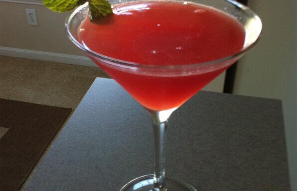 Mint-Kissed Watermelon Martini